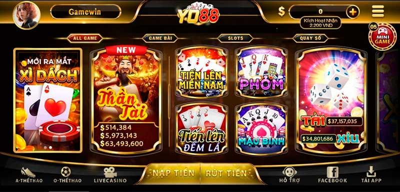 Game bài đổi thưởng Yo88 - All game