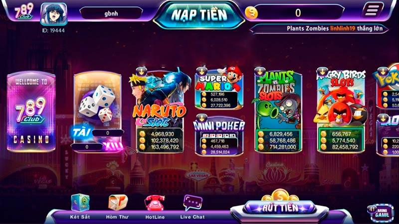 Kho game bài đổi thưởng online đa dạng và đồ hoạ đẹp mắt và hấp dẫn