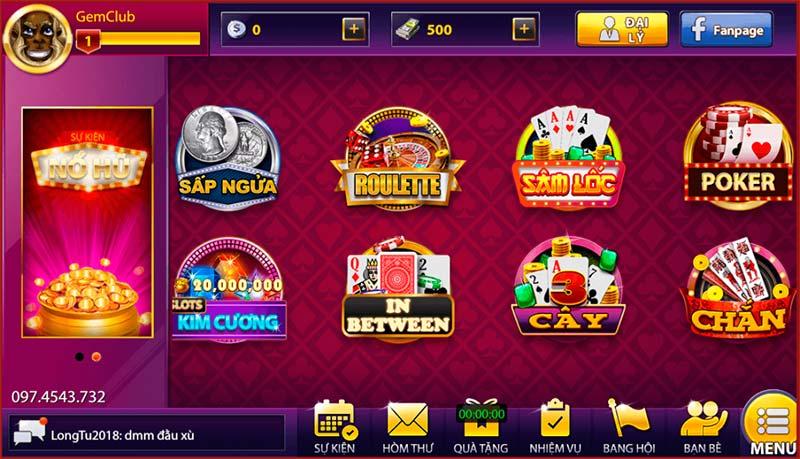 Gem68 Club giao diện đẹp mắt, kho trò chơi đồ sộ nhất thị trường