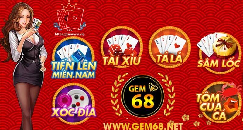 Gem68 Club chơi game đánh bài đổi thưởng online nhận tiền thật cực hấp dẫn và uy tín