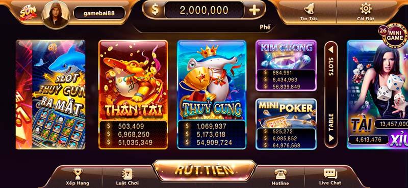 Sun casino - Kho game bài online đa dạng và đồ hoạ cực khủng trên thị trường 2020