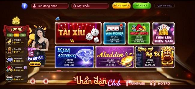 Game slot tuyệt đỉnh tại cổng game bài đổi thưởng Thần Đèn club đầy mê ly đánh đâu thắng đó