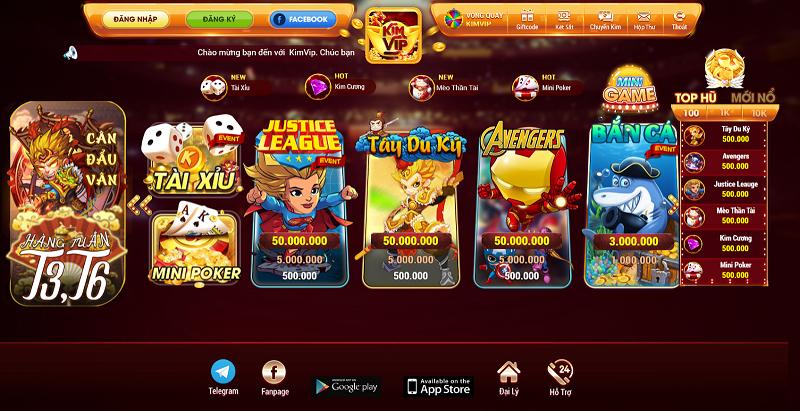 KimVip – Huyền thoại game bài đổi thưởng tái xuất giang hồ tham gia ngay