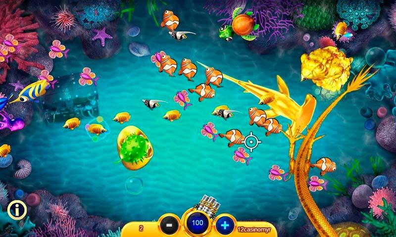 Trò chơi bắn cá vô cùng hấp dẫn và không kém sự thử thách cho người chơi