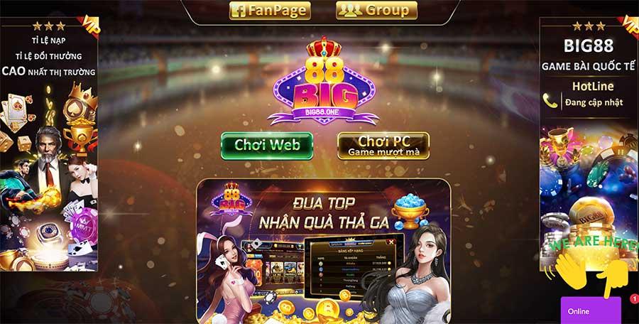 Big88z.Com – Hệ thống game bài đổi thưởng xanh chín xứng hàng quốc tế