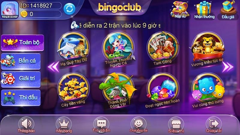Bingo Club - Bom tấn hàng đầu của làng game bài đổi thưởng đẳng cấp quốc tế