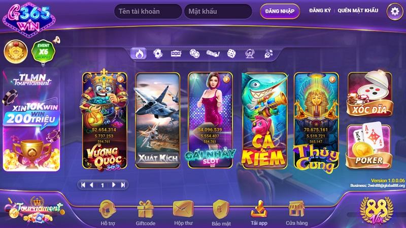 G365.Win – Siêu phẩm game bài đổi thưởng mới của GamVip