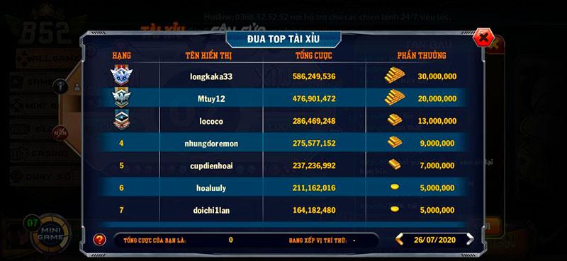 Free Giftcode game bài B52 Club tân thủ – Free Code cho các game thủ tham gia bom tấn B52