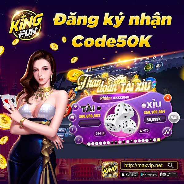 Giftcode game bài King Fun 22/7/2020: Event tặng Code chơi King