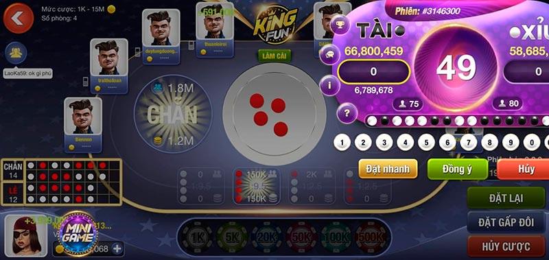 Giftcode game bài King Fun 25/7/2020: Chơi lớn xả 300 Giftcode may mắn