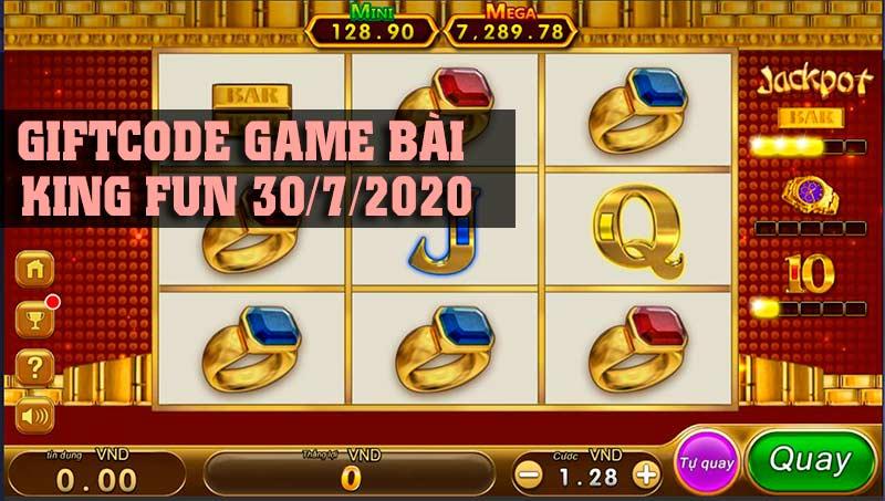 Giftcode game bài King Fun 30/7/2020: Ném phao dạt vào bờ