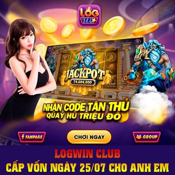 Giftcode game bài LogWin Club 25/7/2020: Cấp vốn ngày 25/07 cho anh em