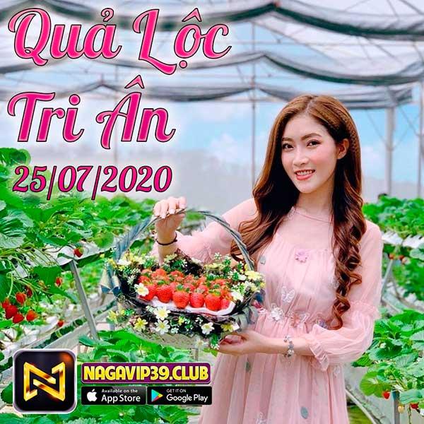 Giftcode game bài NaGaVip Club 25/7/2020: Quả Lộc Tri Ân Ngày 25/07