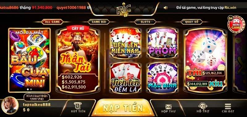 Ric Win - Làm giàu không khó cùng game bài đổi thưởng ấn tượng nhất hiện nay