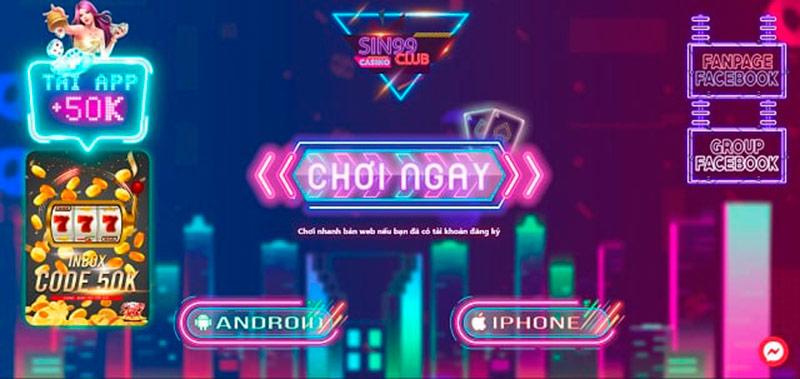 """Sin99 Club – Siêu game bài đổi thưởng thế hệ mới """"chất"""" nhất 2020"""