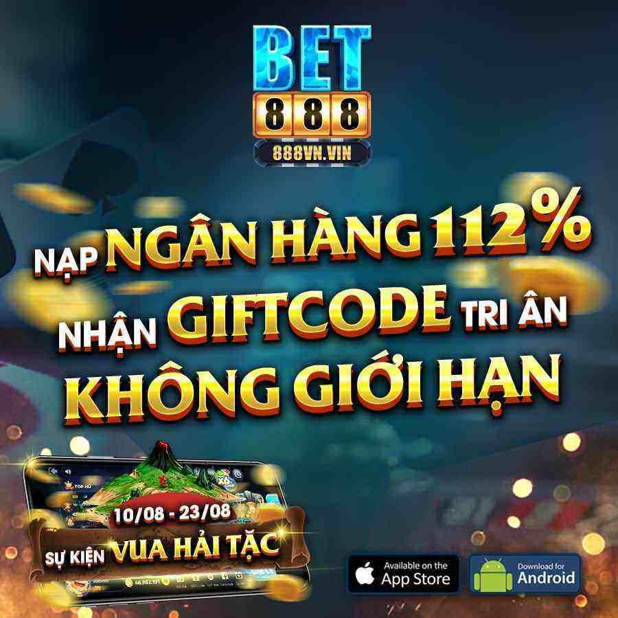 Giftcode game bài Bet888 Club 9/8/2020: Nạp ATM – Nhận Code Tri Ân không giới hạn