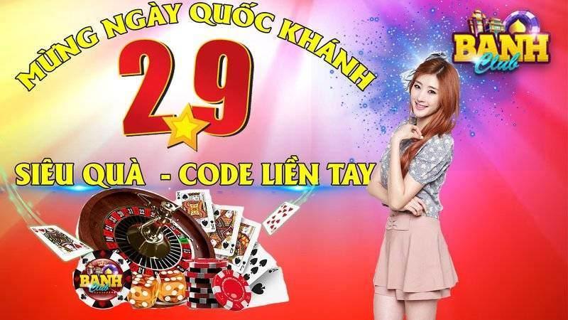 Banh Club giftcode game 31/8/2020: Siêu Code mừng Quốc Khánh 2/9