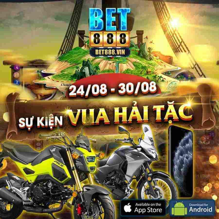 Bet888 Club giftcode game 25/8/2020: Đua Top kho báu Hải Tặc từ 24/08 đến 30/08