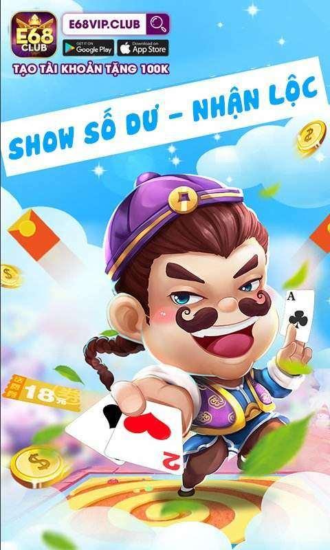 E68 Club giftcode game 24/8/2020: Show số dư – Nhận Lộc đầu tuần