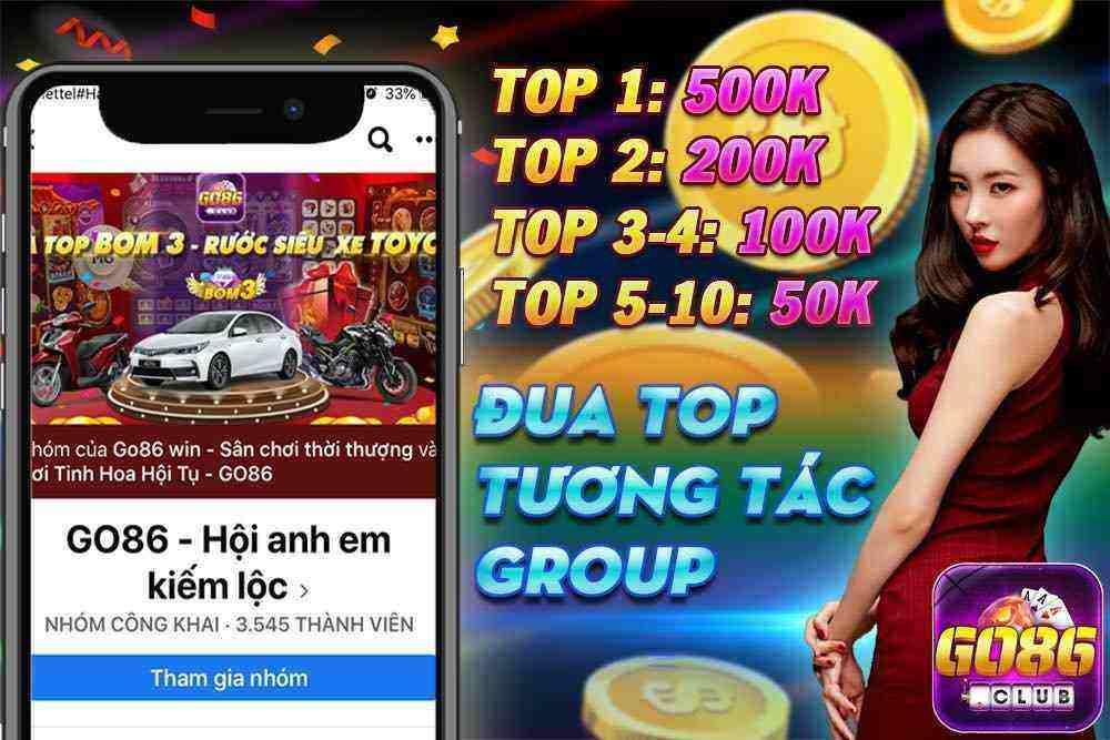 Giftcode game bài Go86 Club 17/8/2020: Đua Top tương tác – Nhận Code 500k