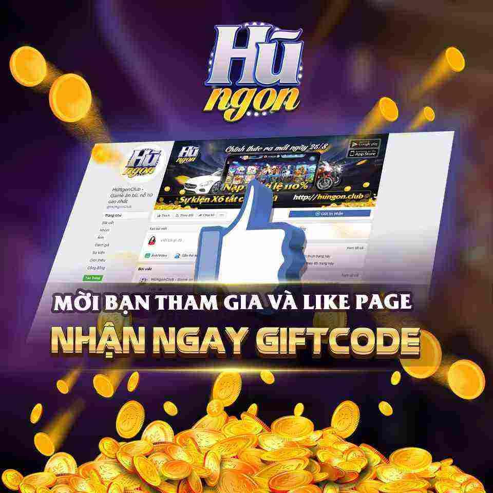 Hũ Ngon Club giftcode game 23/8/2020: Like Fanpage – Hứng Lộc thả ga