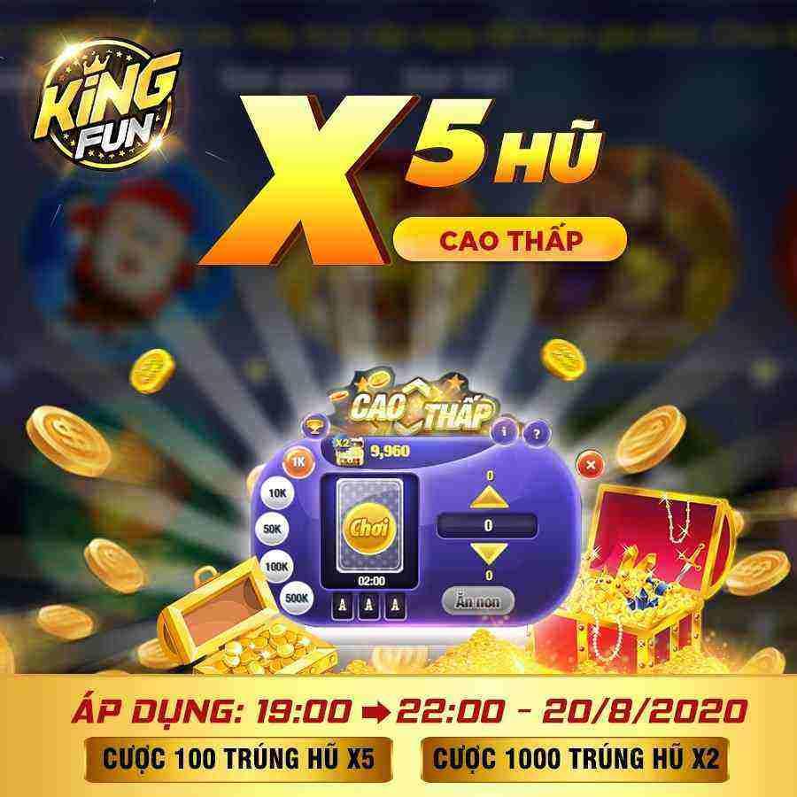 King Fun giftcode game 20/8/2020: Lộc cho anh em săn hũ Minipoker