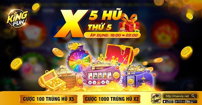Giftcode game bài King Fun 6/8/2020: X Hũ thứ 5 – Phăm phăm nhận Code
