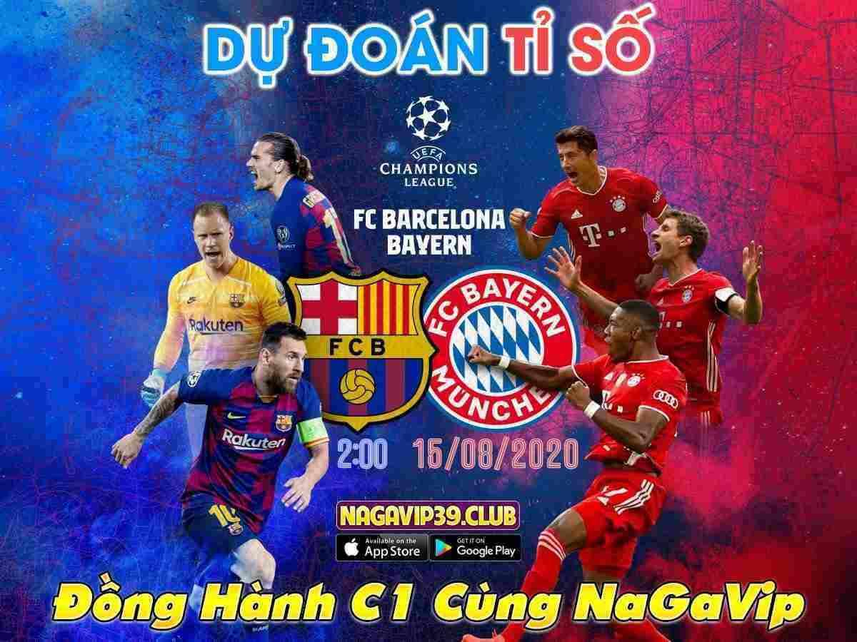 Giftcode game bài NagaVip Club 13/8/2020: Dự đoán tỷ số Barca vs Bayern Munich