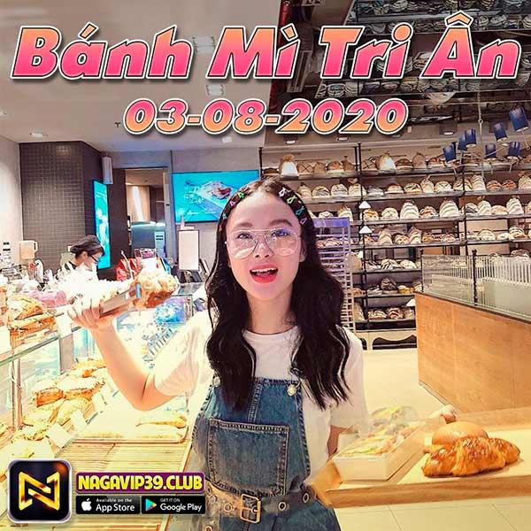 Giftcode game bài NaGaVip Club 3/8/2020: Bánh Mỳ Tri Ân ngày 03/08