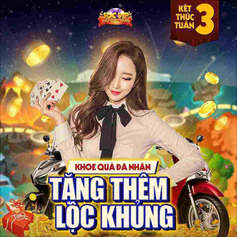 Giftcode game bài SocVip Club 15/8/2020: Khoe quà đã nhận -Tặng thêm Lộc khủng