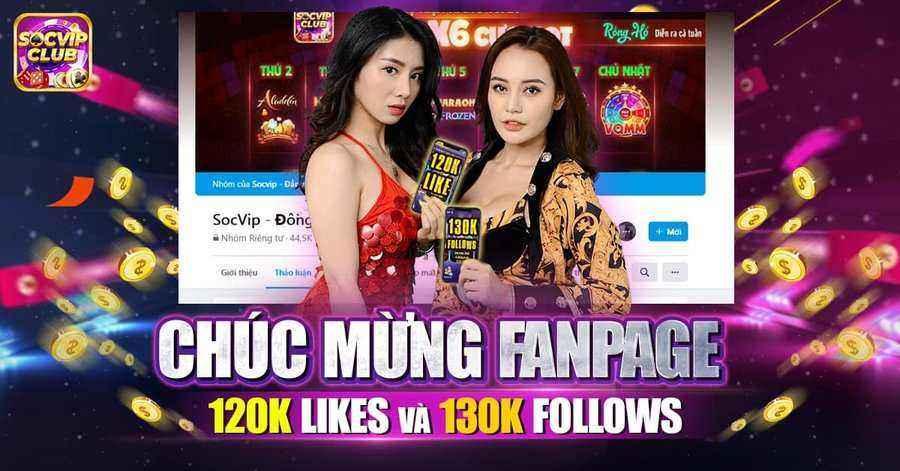 SocVip Club giftcode game 27/8/2020: Tặng Code mừng Fanpage đạt 120k like