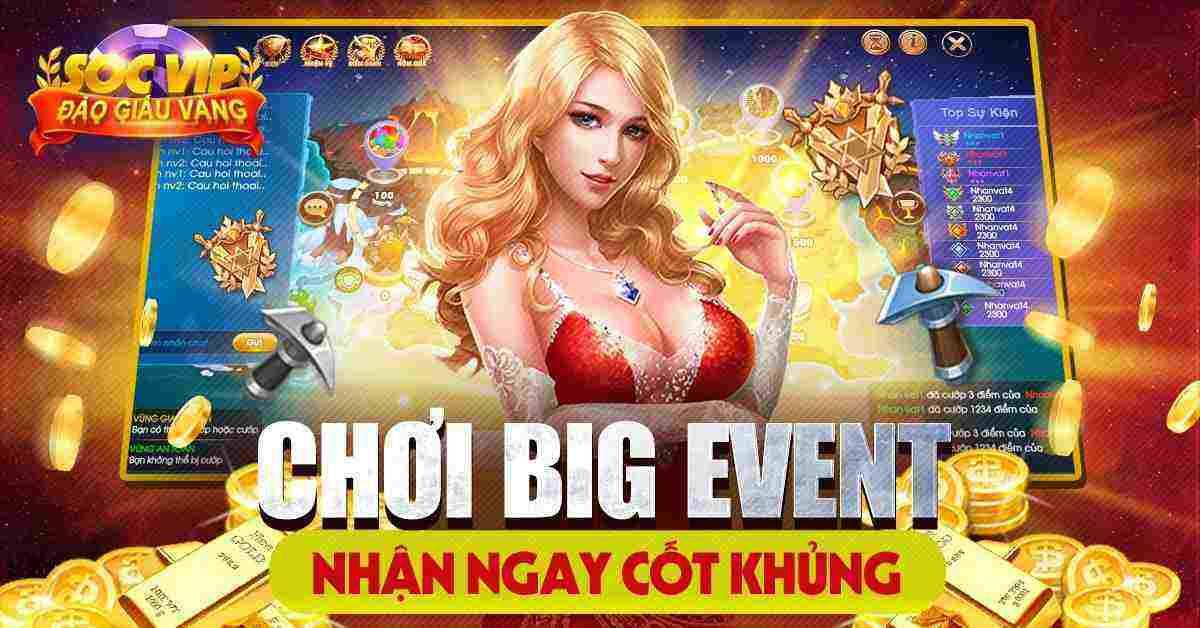 Giftcode game bài SocVip Club 8/8/2020: Chơi Big Event – Nhận Ngay Code Khủng