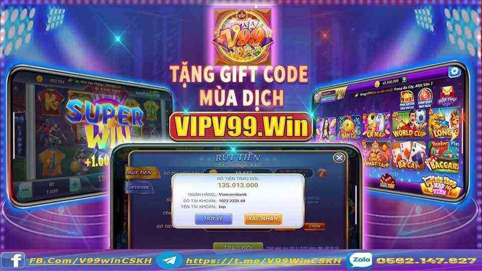 V99 Win giftcode game 18/8/2020: Trả lời câu hỏi – Nhận Code 20k