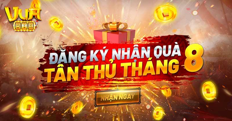 Giftcode game bài Vua Win 1/8/2020: Đăng ký nhận quà Tân Thủ tháng 8