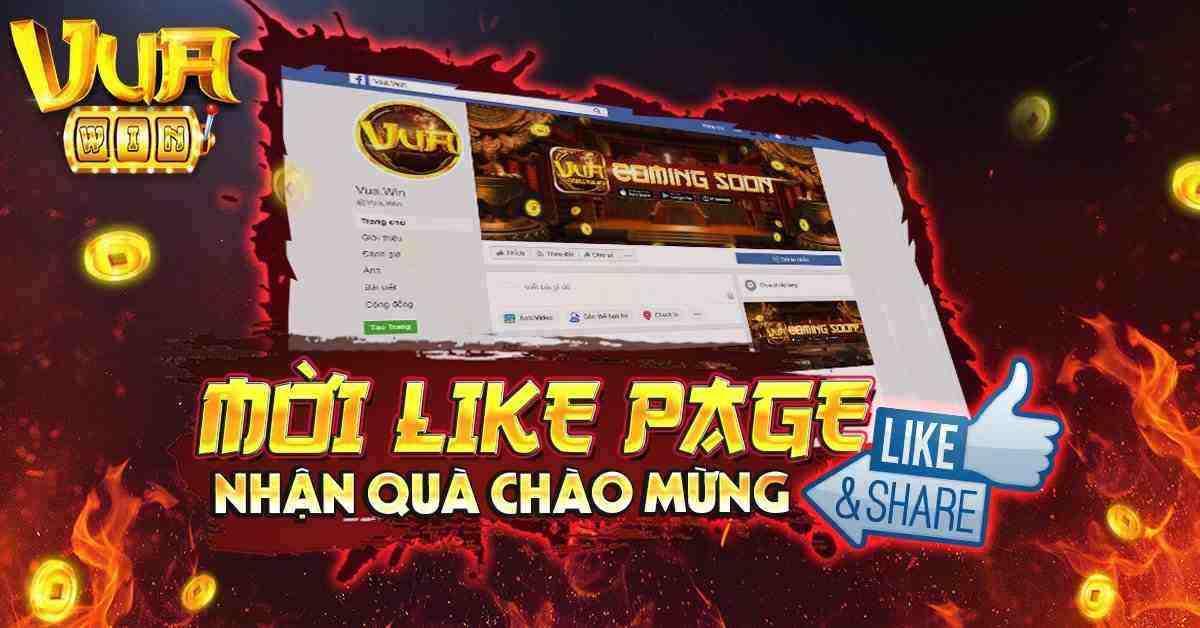 Giftcode game bài Vua Win 13/8/2020: Mời bạn like Page – Nhận Code chào mừng
