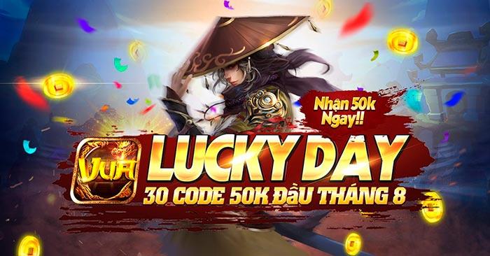 Giftcode game bài Vua Win 4/8/2020: Lucky Day – Thả Tim nhận Code 50k