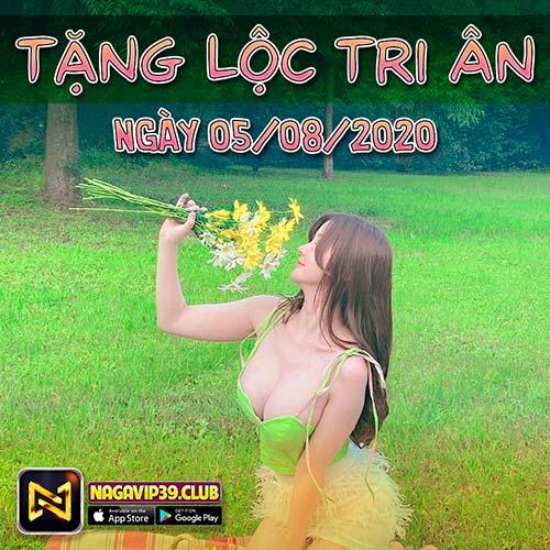 Giftcode game bài NaGaVip Club 5/8/2020: Tặng Lộc Tri Ân Ngày 05/08
