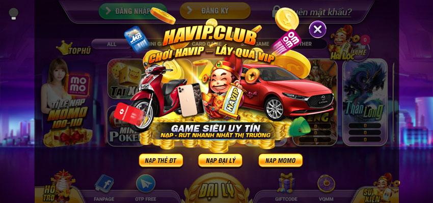 HaVip Club – Chơi Game Bài Đổi Thưởng Cực Hay Kiếm Tiền Liền Tay