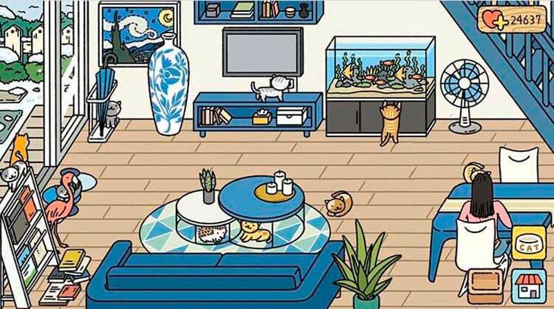 Trang trí đồ đạc trong phòng khách ngày hè