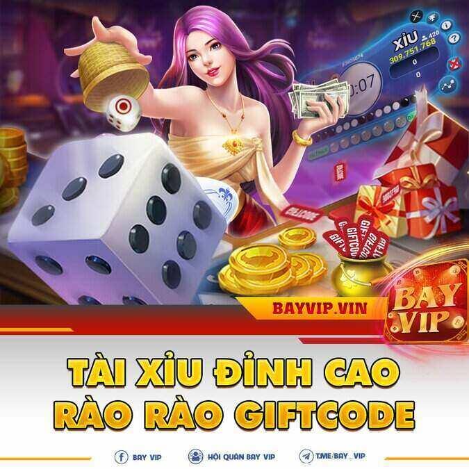 BayVip giftcode game 11/9/2020: Tài Xỉu đỉnh cao – Rào rào GIFTCODE
