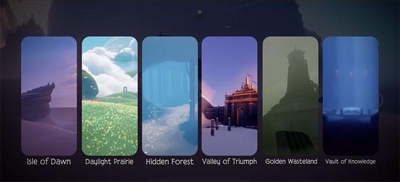 6 địa điểm trong hành trình phiêu lưu của Sky Children Of the Light