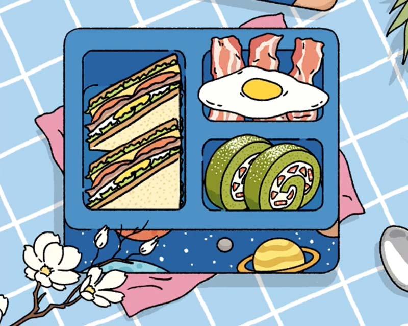 Set ăn sáng Sanwiches - Thịt xông khói trứng