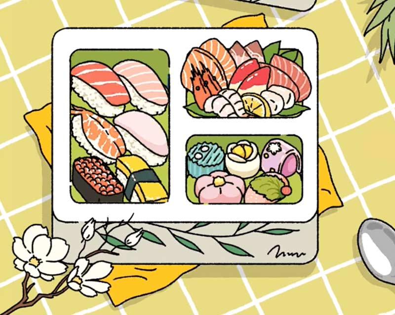 Set đồ ăn Nhật toàn bộ nhé