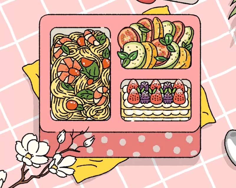 Cách làm bento trong Adorable Home set mỳ Ý