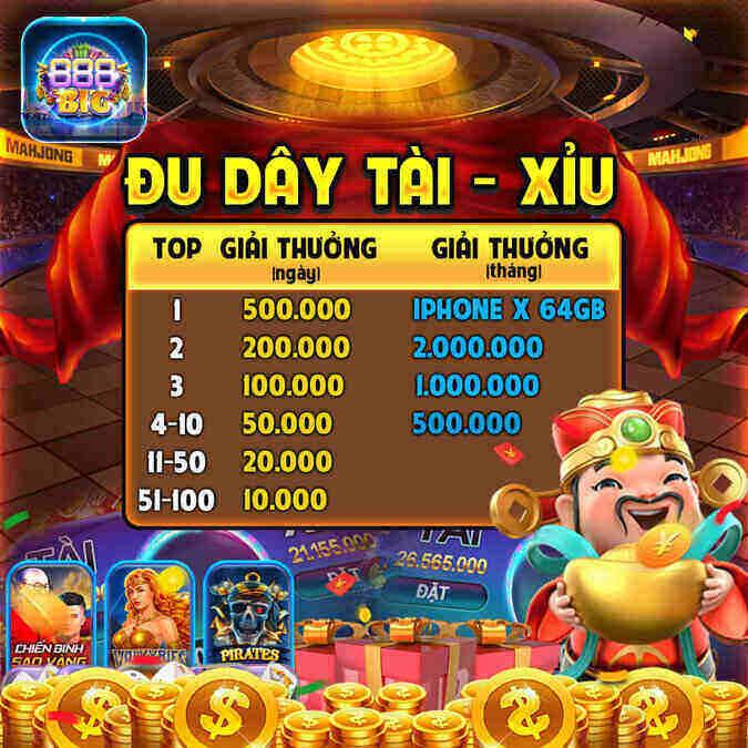 888Big Club giftcode game 11/9/2020: Đua Top Tài Xỉu – Nhận Quà cực chất
