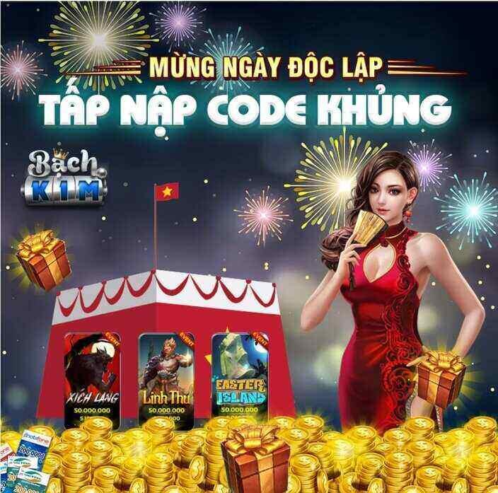 Bạch Kim Club giftcode game 2/9/2020: Mừng lễ Độc Lập – Tấp nập Code khủng