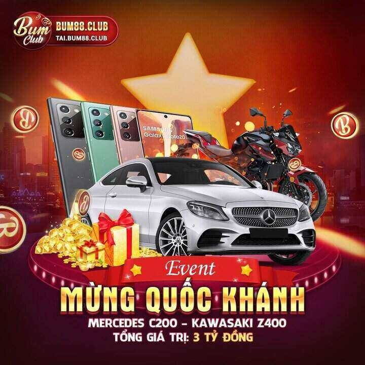 BumVip Club giftcode game 3/9/2020: Event tháng Quốc Khánh – Mercedes C200