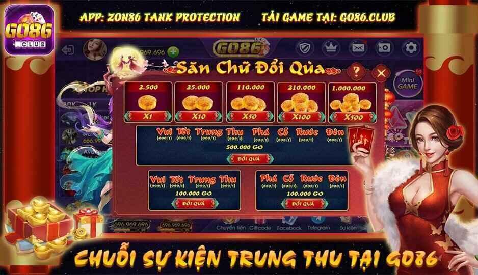 Go86 Club giftcode game 5/9/2020: Sự kiện Trung Thu – Rước đèn rinh tỷ Go