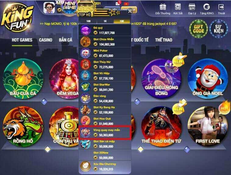 King Fun giftcode game 10/9/2020: Lộc Code săn Hũ ngày thứ 5
