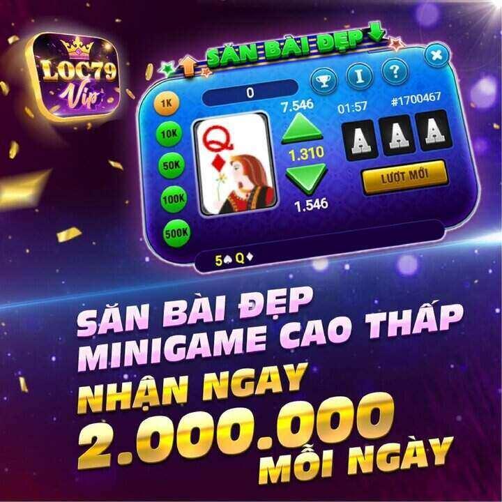 Lộc 79 giftcode game 10/9/2020: Săn Bài Đẹp – Nhận Thưởng 2 Triệu Mỗi Ngày